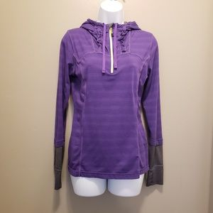MPG Purple Long Sleeve Workout Hoodie Size Small